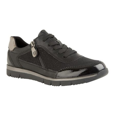 Lotus Relife Denali Black Comfort Trainers