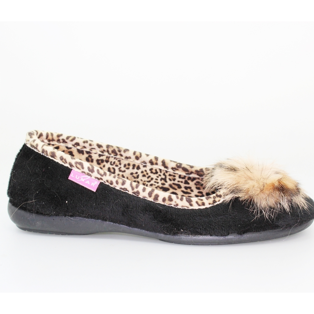 65edbf7087f Lunar Brooks Black Velvet Slippers