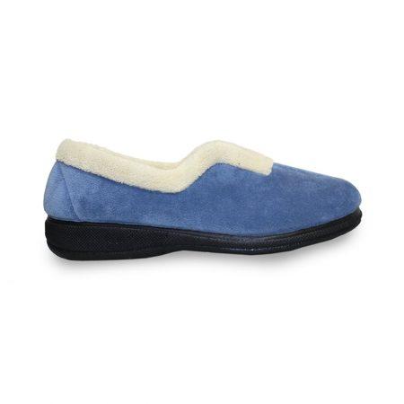 Lunar Corrine Blue Micro Fibre Slippers