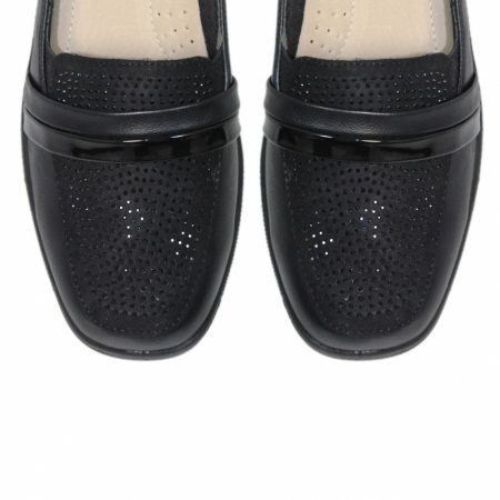 Lunar Esther Black Comfort Shoes
