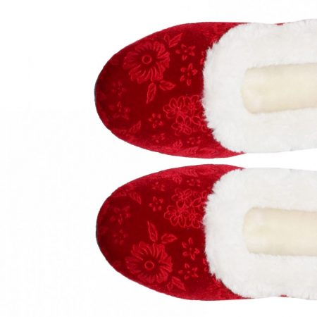 Lunar Lavinia Red Floral Slippers