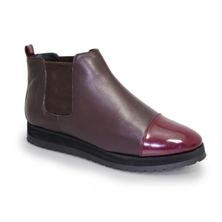 Lunar Plum Burgundy Leather Platform Boots