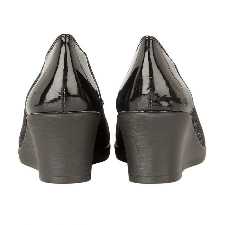Lotus Zetta Pewter Glitter Wedge Shoes