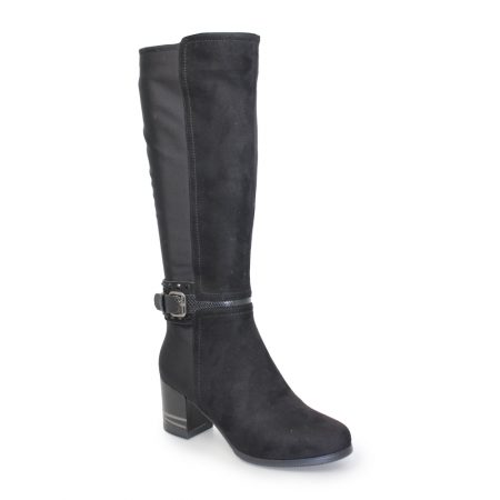 Lunar Tamsin Black Knee High Boots