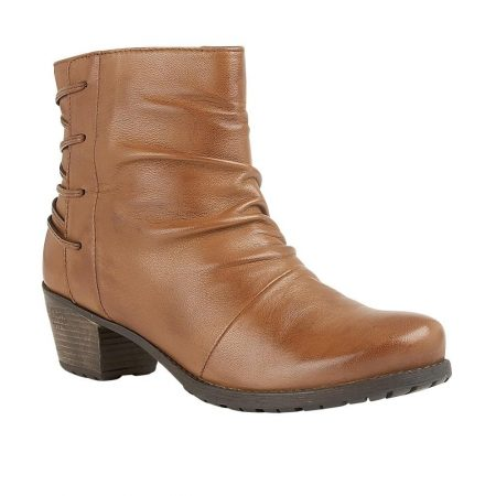 Lotus Fortune Tan Leather Ankle Boots