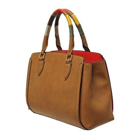 Envy Tan Multi Colour Large Handbag