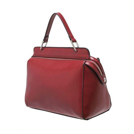 Envy Red Structured Medium Handbag