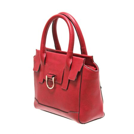 Envy Red Small Structured Handbag