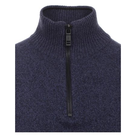 Casa Moda Dark Blue Zip Jumper