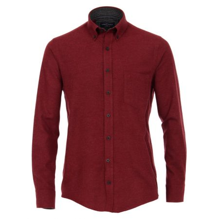 Casa Moda brushed cotton Burgundy shirt