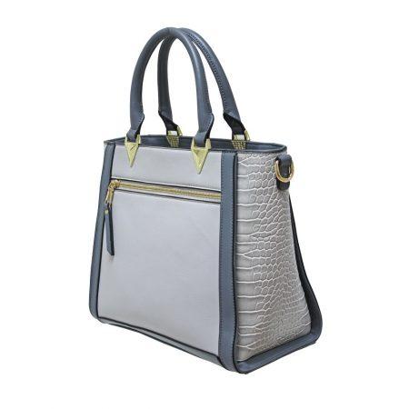 Envy Grey Large Structured Handbag
