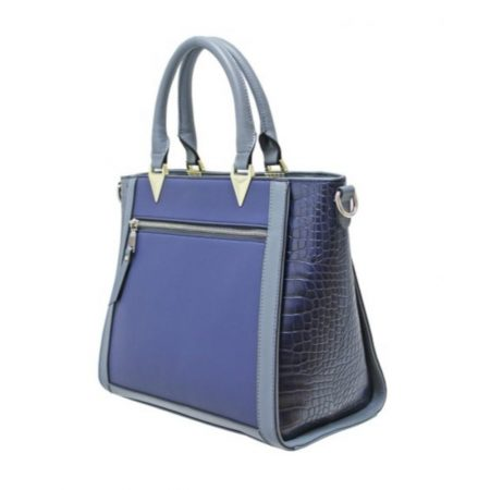 Envy Navy Large Structured Handbag