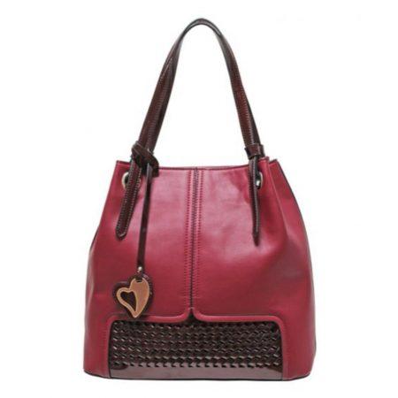 Envy Burgundy Large Shoulder Bag