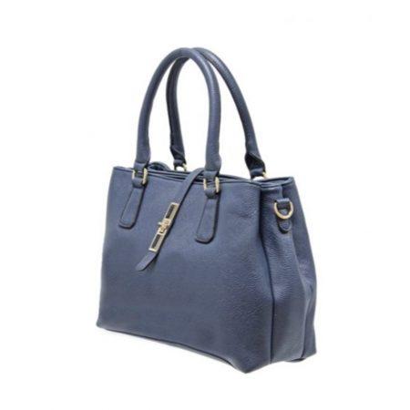 Envy Navy Medium Structured Handbag