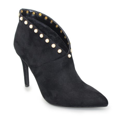 Lunar Romy Black Pearl Heeled Shoe Boots