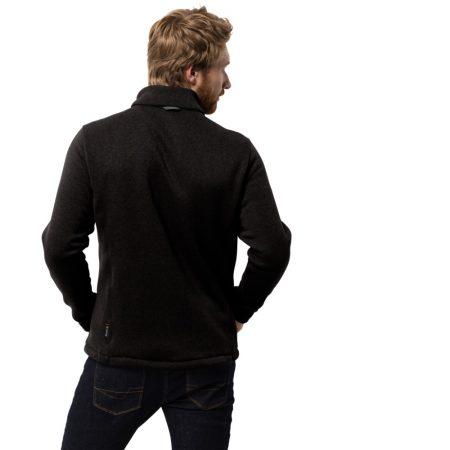 Jack Wolfskin Black Caribou Crossing Track Hybrid Jacket