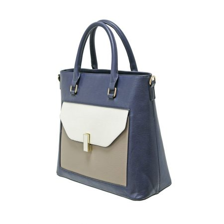 Envy Navy Taupe Large Handbag