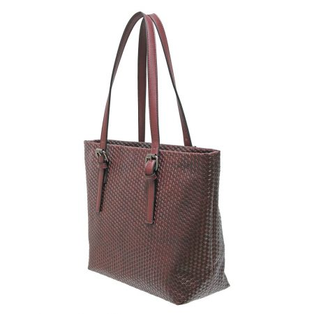Envy Burgundy Large Woven Handbag