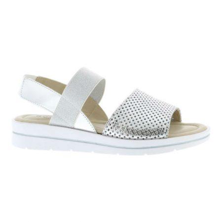 Adesso Alexia Silver Leather Sandals