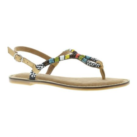 Capollini Delphine Beaded Leather Sandals