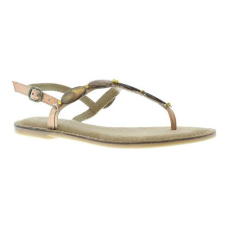 Capollini Fayth Beaded Leather Sandals