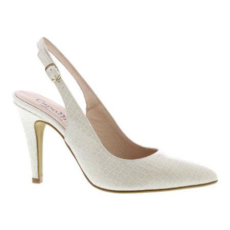 Capollini Laurel Cream Patent Heels
