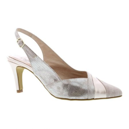 Capollini Julia Blush Leather Heels