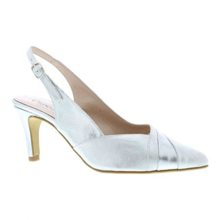 Capollini Julia Silver Leather Heels