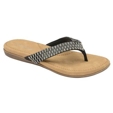 Dunlop Eryn Black Gem Sandals
