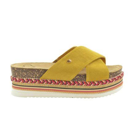 Fabs Ochre Flat Platform Sandals