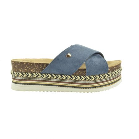 Fabs Jeans Flat Platform Sandals