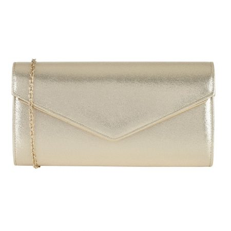 Lotus Nina Metallic Gold Clutch