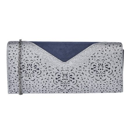 Lotus Fidda Navy Pewter Clutch