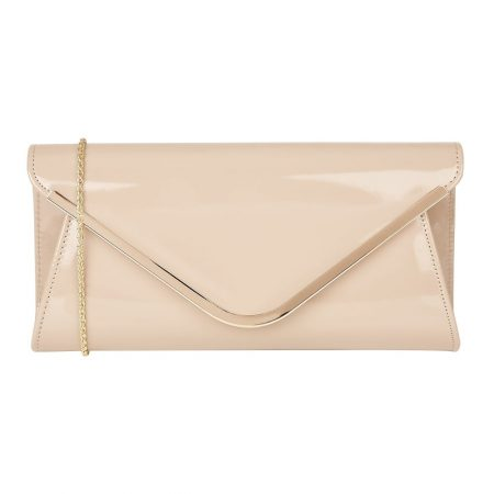 Lotus Sommerton Nude Patent Clutch