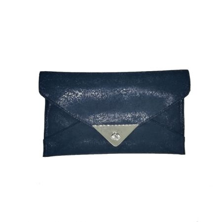 Capollini Catherine Navy Envelope Clutch