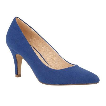 Lotus Holly Blue Microfibre Shoes