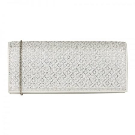 Lotus Tadine Silver Gem Clutch