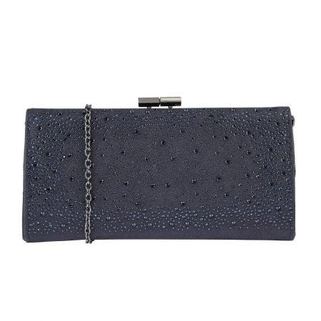 Lotus Chandra Navy Gem Clutch
