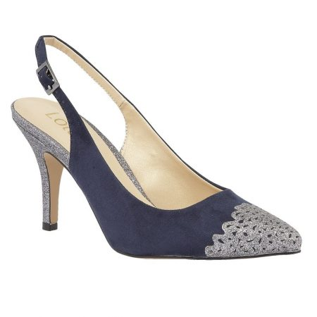 ef5cfccb50 Lotus Sparkle Silver Glitter Heels - Brooks Shops