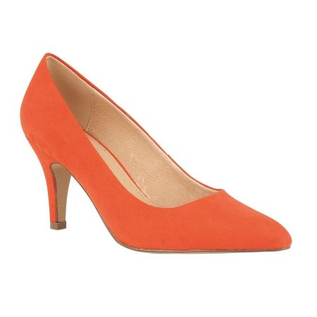 Lotus Holly Orange Microfibre Shoes
