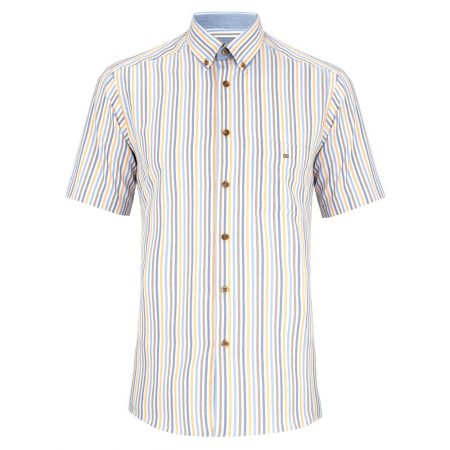 Drifter multi coloured short sleeve shirt
