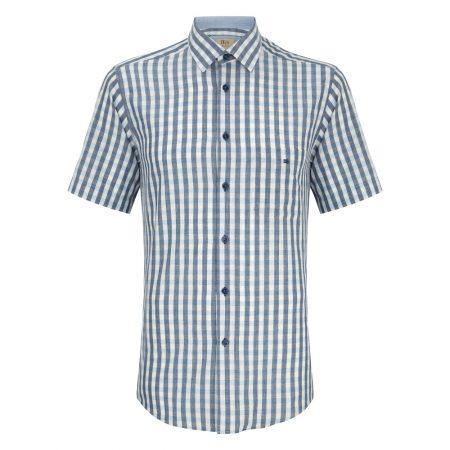 Drifter blue check short sleeve shirt