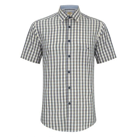 Drifter fawn check short sleeve shirt