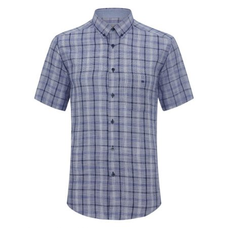 Drifter blue check short sleeve shirt