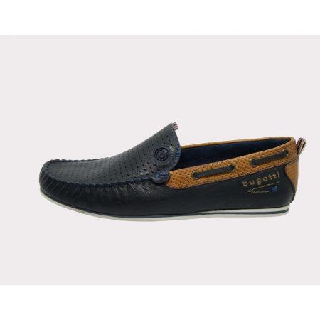 Bugatti navy slip on shoe