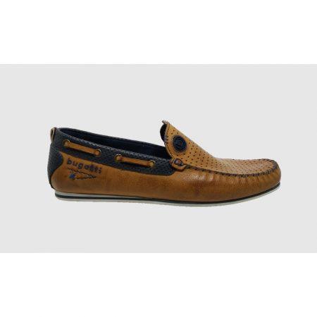 Bugatti tan slip on shoe