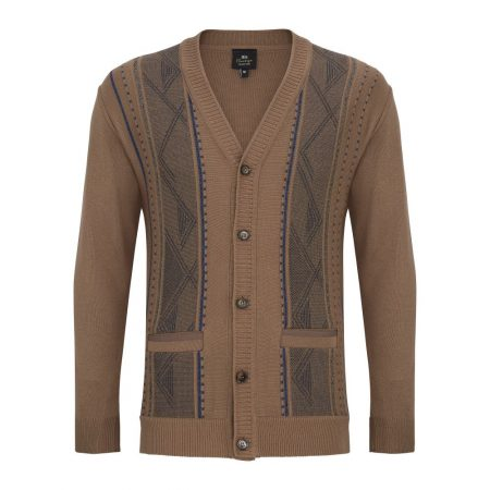 DG Brown Patterned Cardigan