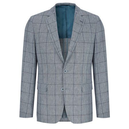 Douglas Blue Linen Mix Jacket