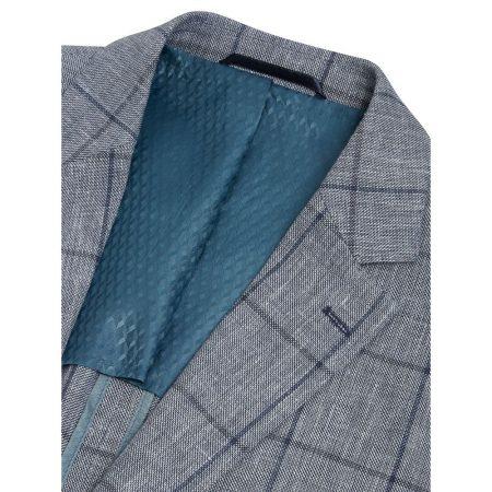 Douglas Blue Linen Mix Jacket