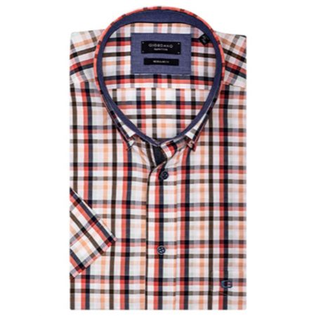 Giordano Check Short Sleeve Shirt
